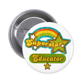 Superstar Educator 6 Cm Round Badge