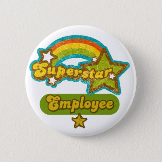 Superstar Employee 6 Cm Round Badge