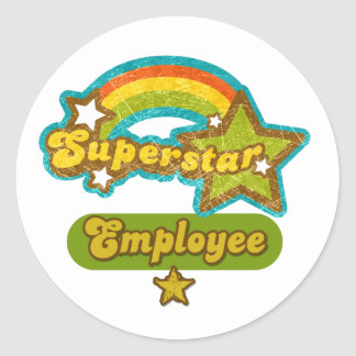 Superstar Employee Classic Round Sticker