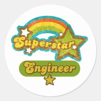Superstar Engineer Classic Round Sticker
