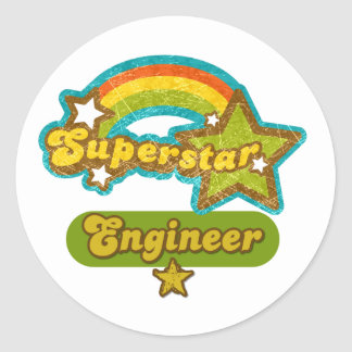 Superstar Engineer Round Sticker