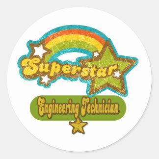 Superstar Engineering Technician Round Stickers