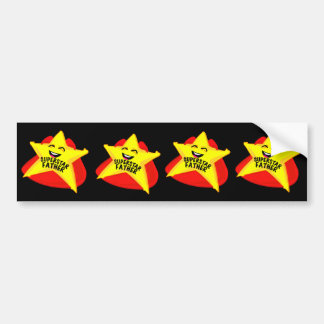superstar father funny father's day bumper sticker