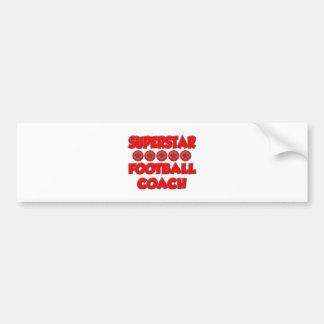 Superstar Football Coach Bumper Sticker