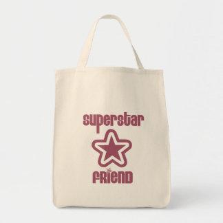 Superstar Friend Grocery Tote Bag