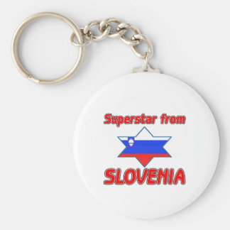 Superstar from Slovenia Key Ring