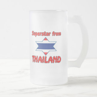 Superstar from Thailand Frosted Glass Mug