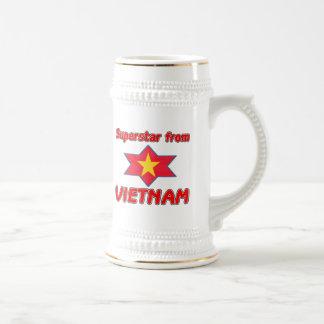 Superstar from Vietnam Beer Steins