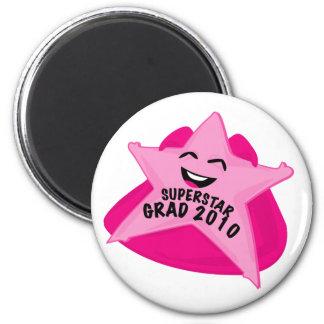 superstar grad funny graduation day magnet! 6 cm round magnet