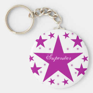 Superstar Keychain, Purple