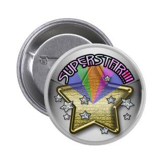 superstar kid 6 cm round badge