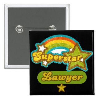 Superstar Lawyer 15 Cm Square Badge