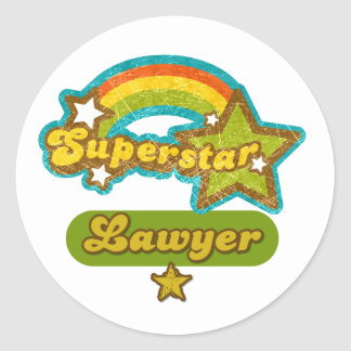 Superstar Lawyer Classic Round Sticker