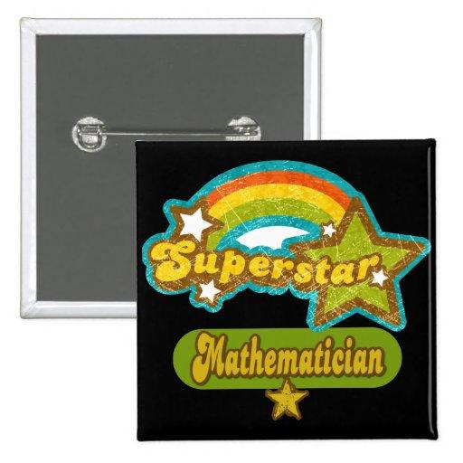 Superstar Mathematician Buttons