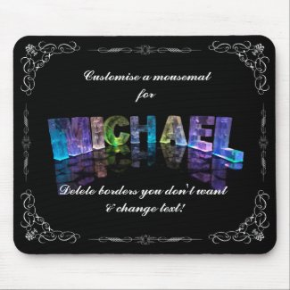 Superstar Michael - Name in Lights (Photograph) Mousemat