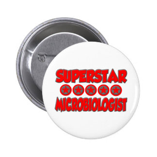 Superstar Microbiologist 6 Cm Round Badge