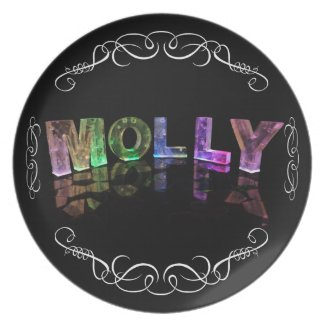 Superstar Molly - Name in Lights (Photograph) Party Plates
