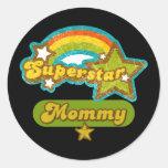 SuperStar Mummy Round Stickers