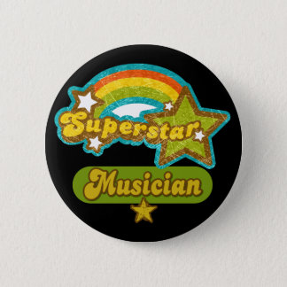 Superstar Musician 6 Cm Round Badge