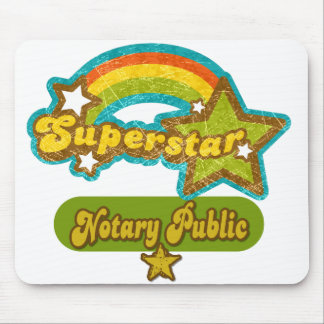 Superstar Notary Public Mouse Mat