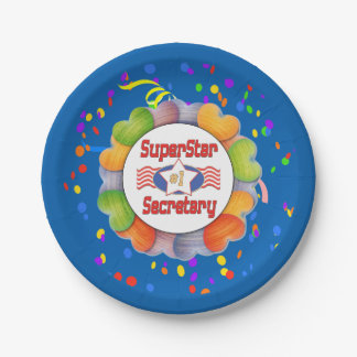 Superstar Number One Secretary Paper Plate