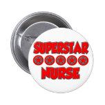 Superstar Nurse 6 Cm Round Badge