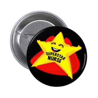 superstar nurse funny pin