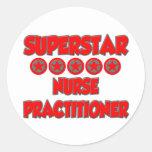 Superstar Nurse Practitioner Round Sticker