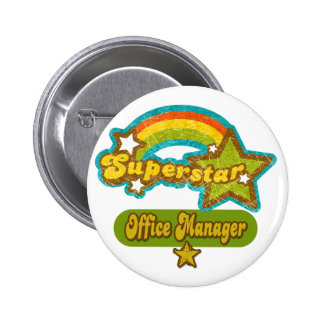 Superstar Office Manager 6 Cm Round Badge