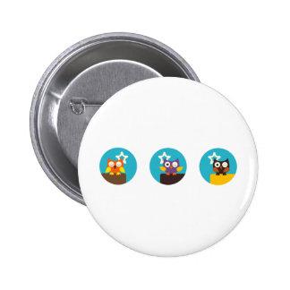 """""""Superstar Owl"""" 6 Cm Round Badge"""