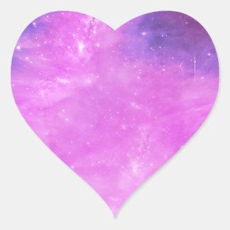 SuperStar Pastel Space Heart Sticker