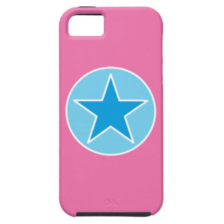 SuperStar Pink and Blue Tough iPhone 5 Case