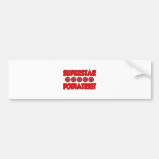 Superstar Podiatrist Bumper Sticker