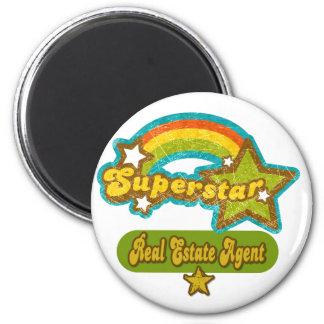 Superstar Real Estate Agent 6 Cm Round Magnet