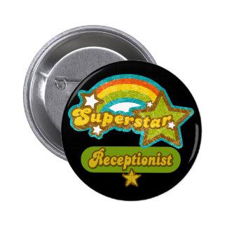 Superstar Receptionist 6 Cm Round Badge