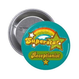 Superstar Receptionist Pinback Buttons