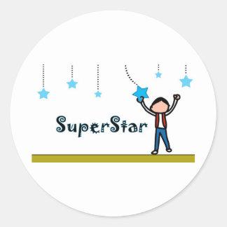 SuperStar Round Sticker