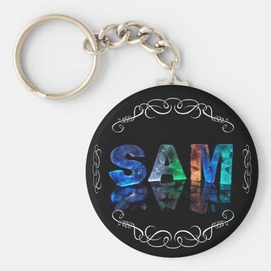 Superstar Sam -  Name in Lights (Photograph) Key Ring