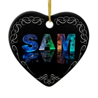 Superstar Sam - Name in Lights (Photograph) Christmas Ornaments