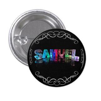 Superstar Samuel -  Name in Lights (Photograph) 3 Cm Round Badge
