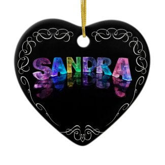 Superstar Sandra - Name in Lights (Photograph) Christmas Ornaments