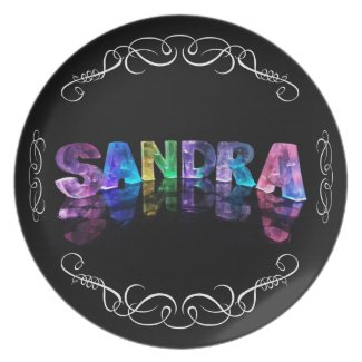 Superstar Sandra - Name in Lights (Photograph) Plate