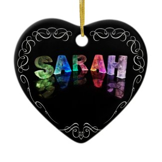 Superstar Sarah - Name in Lights (Photograph) Ornament