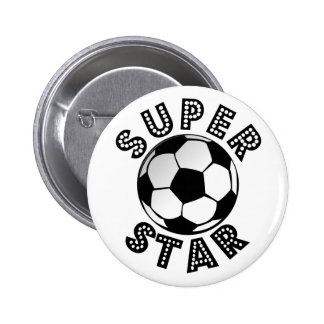 Superstar Soccer 6 Cm Round Badge