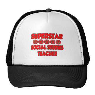 Superstar Social Studies Teacher Trucker Hats