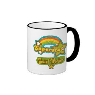 Superstar Social Worker Ringer Mug