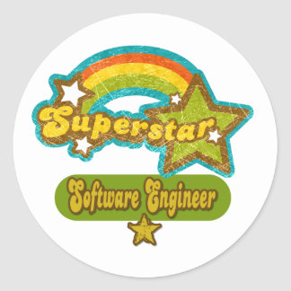 Superstar Software Engineer Round Sticker