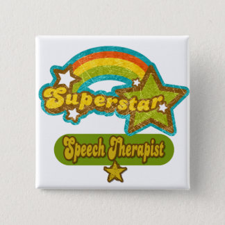 Superstar Speech Therapist 15 Cm Square Badge