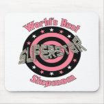 Superstar Stepmom in Pink Mousepads