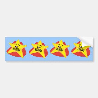 superstar student funny bumper sticker